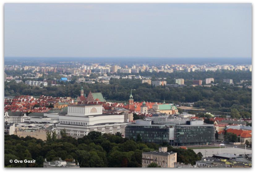 תצפית מארמון התרבות והמדע - טיול בורשה - מה לעשות בורשה