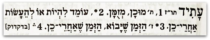 עתיד הגדרה מילונית - שמות רחובות בחיפה - טיול בחיפה
