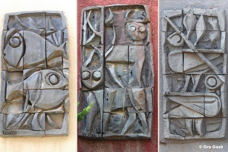 בעלי חיים - תבליט - אמנות רחוב - אטרקציות בחיפה