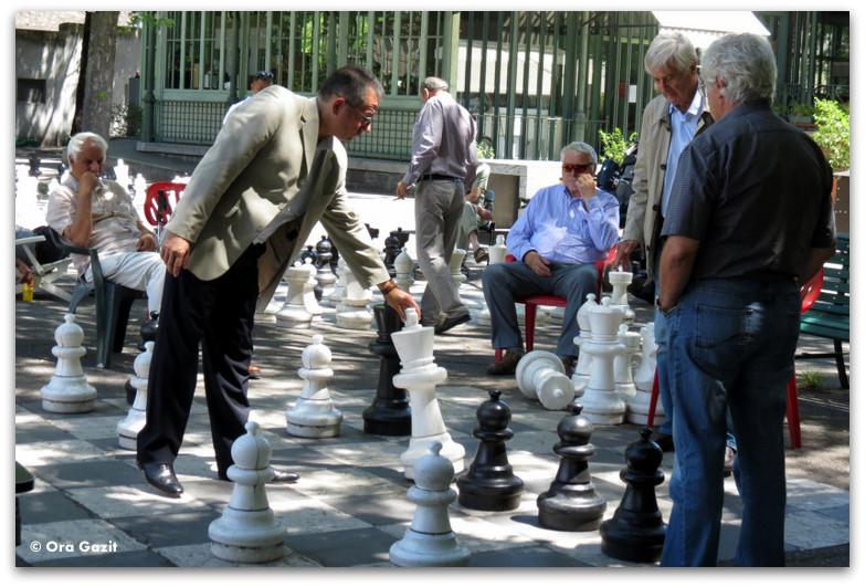 לוח שחמט ענק - פארק - ז'נבה
