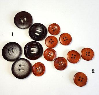 Lot de 10 boutons ronds concaves