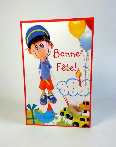 Carte fête Henri