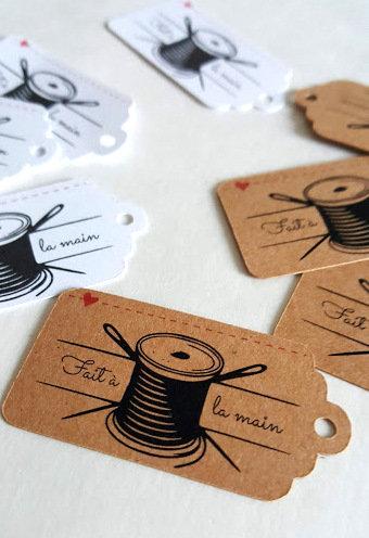 32 étiquettes pour couture prêtes à partir