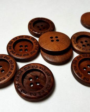 Lot de 10 boutons 2.5 cm # BA06
