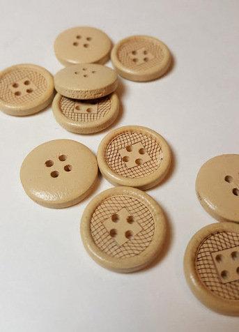 Lot de 10 boutons 1.8 cm #BA02