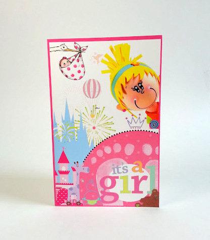 Carte de souhaits Candy naissance