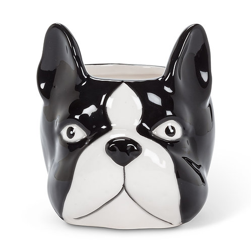 Cache pot boston terrier Sm