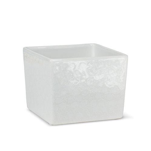 """Cache pot carré blanc 5"""""""