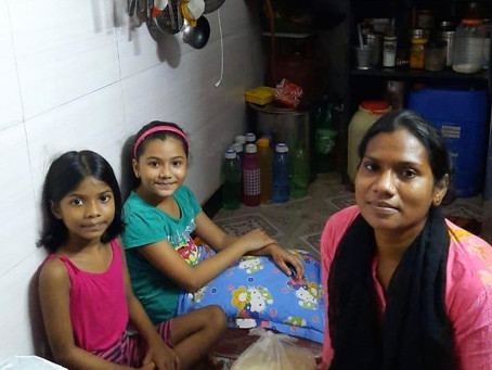SUNITA IS JOBLESS BUT SHE AND HER CHILDREN STILL SMILE AND WAIT IN HOPE