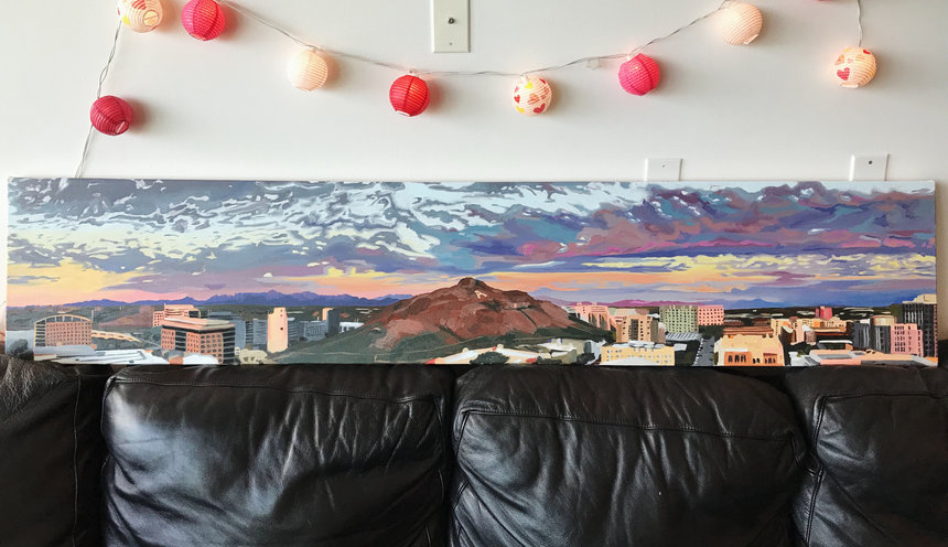 70x14 inches, oil on canvas (2018)