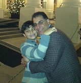 Dadvocacy Consulting Group Director of Special Projects David Goldstein hugging son