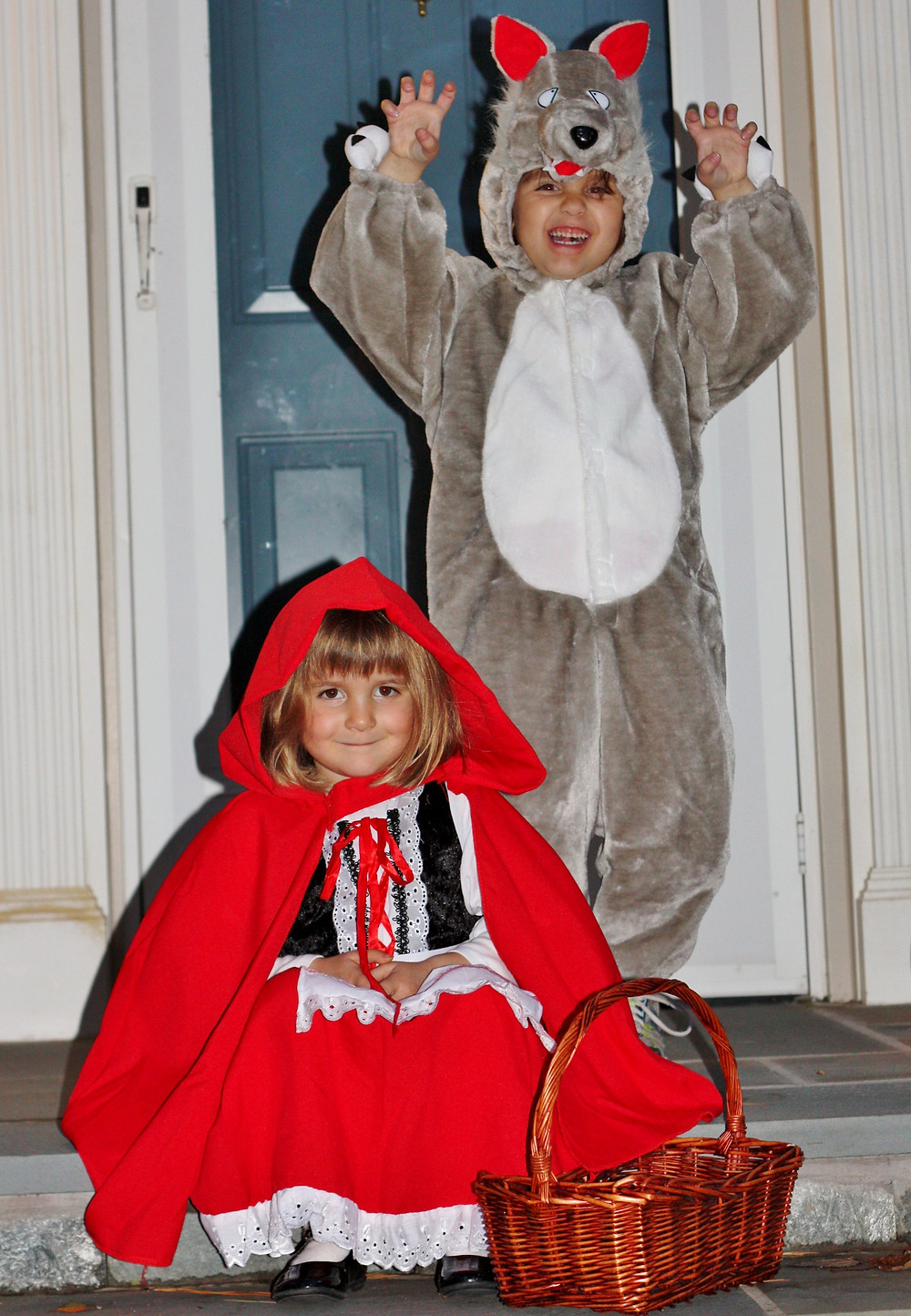 DCG Communications Director Scott Beller's young daughters dressed as Little Red Riding Hood and the Big Bad Wolf for Halloween