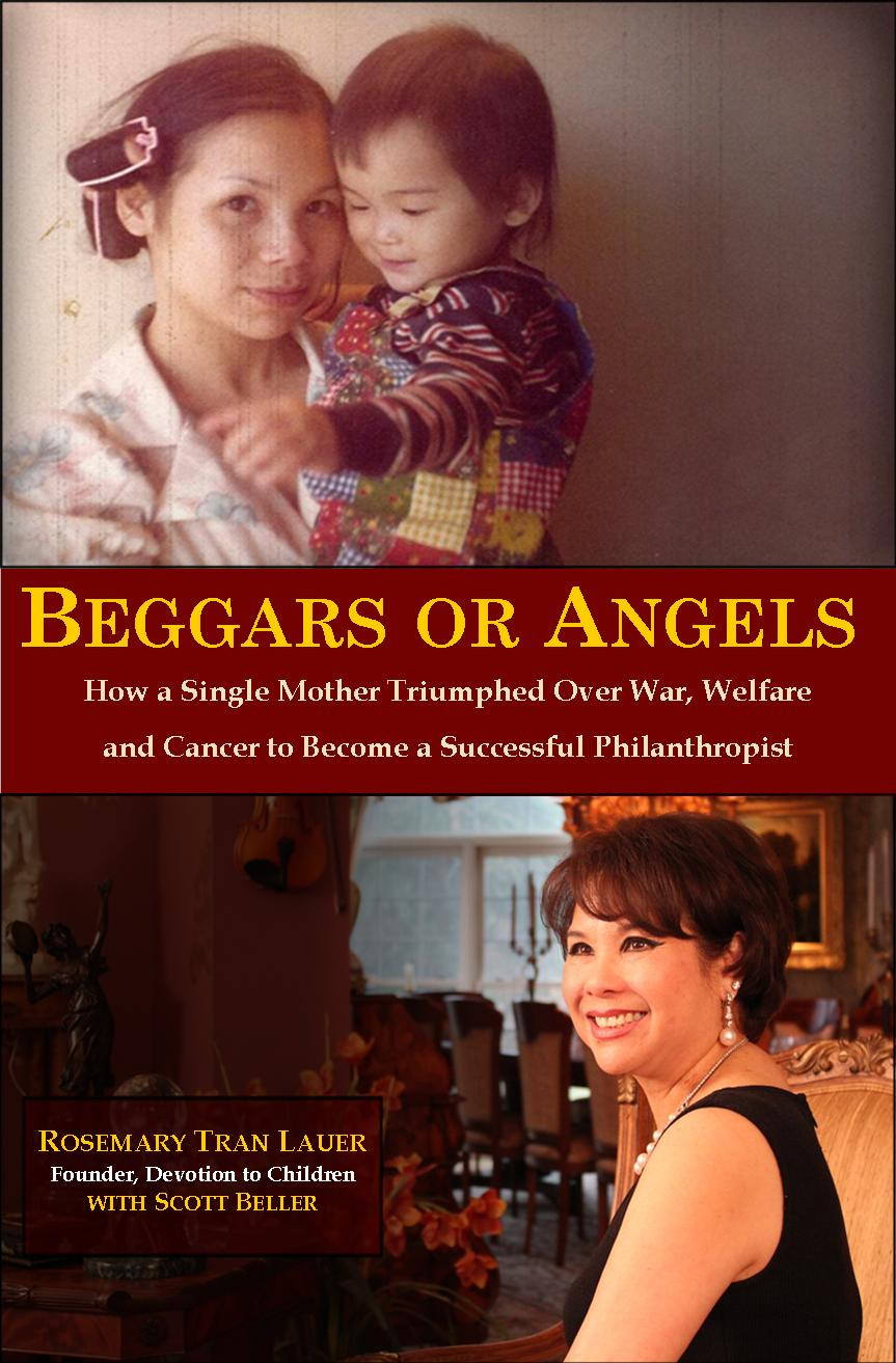 """Cover of book, """"Beggars or Angels"""" by Scott Beller and Rosemary Tran Lauer"""