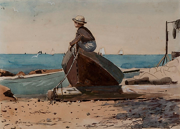 Painting: Waiting For Dad - Longing by Winslow Homer