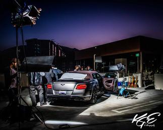 Bentley on set