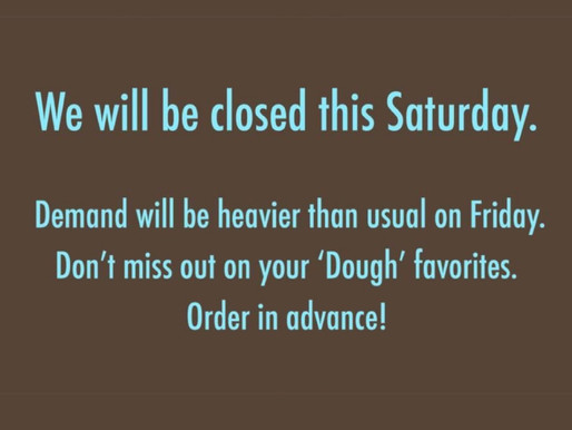 Will Be Closed Sat. Oct 17