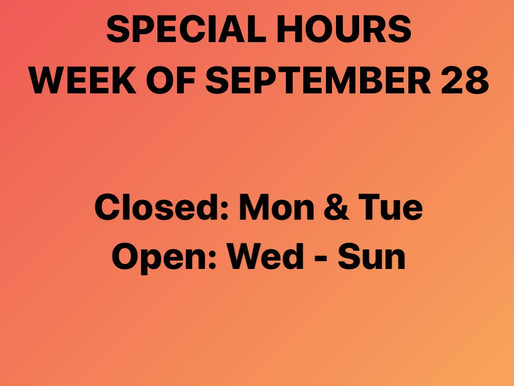 Modified Store Hours This Week