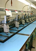 刺繍工房J Factory 店舗の刺繍ミシン