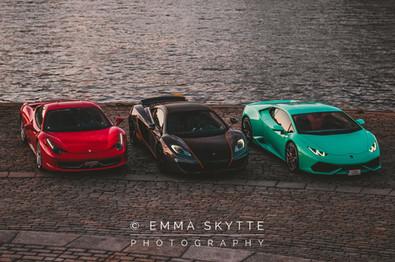 Ferrari 458, McLaren mp4-12c & Lamborghini Huracan