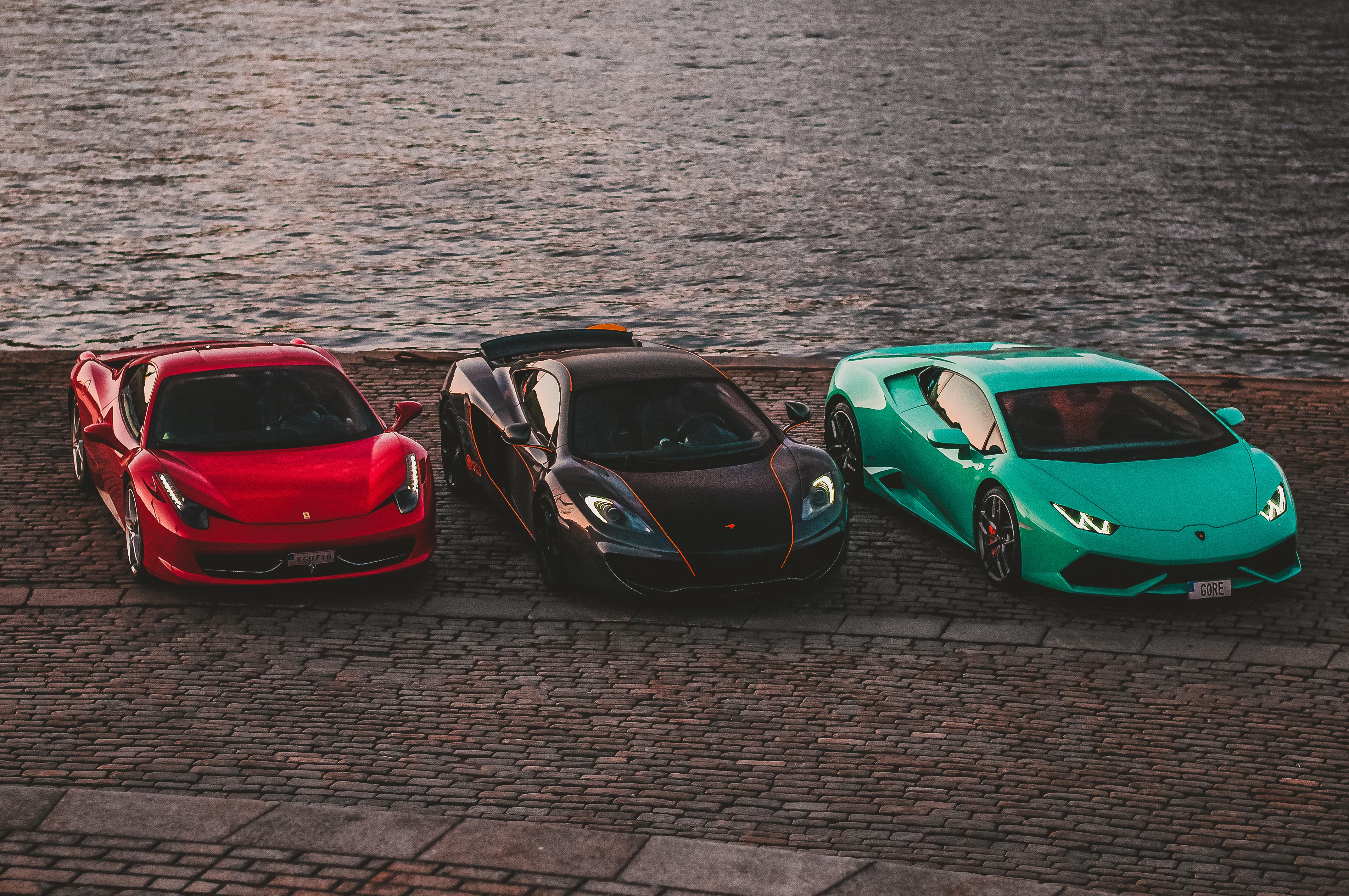 Ferrari, McLaren & Lamborghini