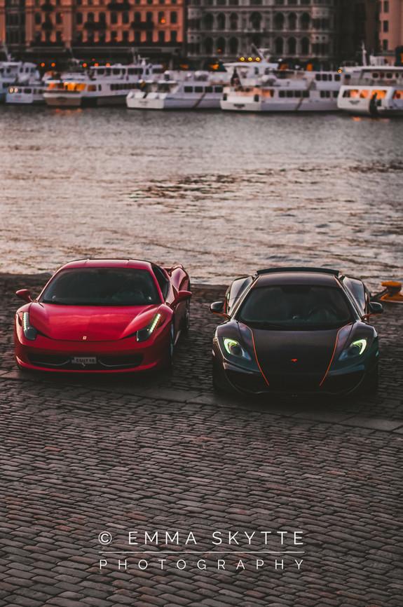 Ferrari 458 & McLaren mp4-12c