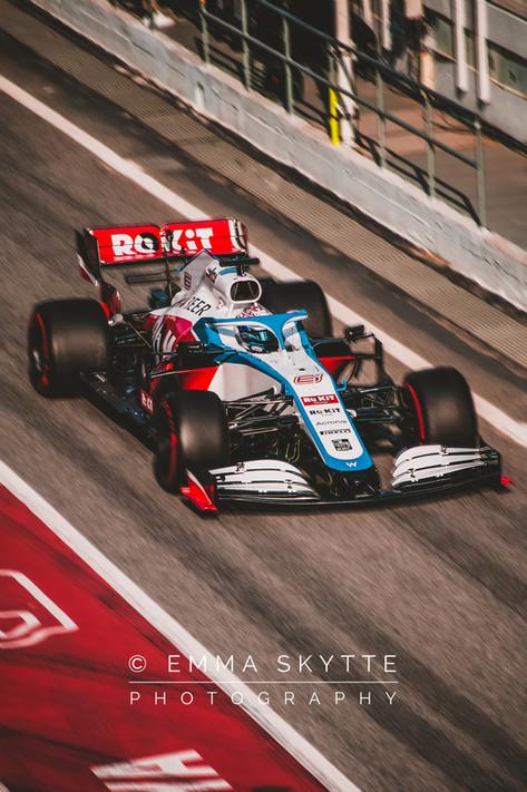 Nicholas Latifi - Barcelona winter testing 2020