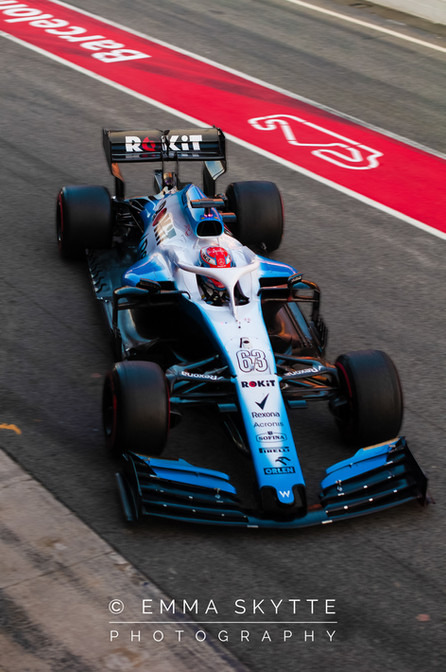 George Russel - Barcelona testing 2019