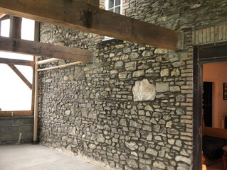 June 2019: Repointing garden room wall
