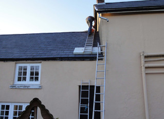 April 2013: Roof repair; new fascias and gutters; new carpets; snowdrops