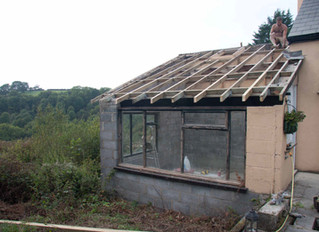 September 2014: New baby and new Utility Room Roof