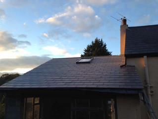October 2014: Finished Utility/Carport Roof and Woodshed cladding