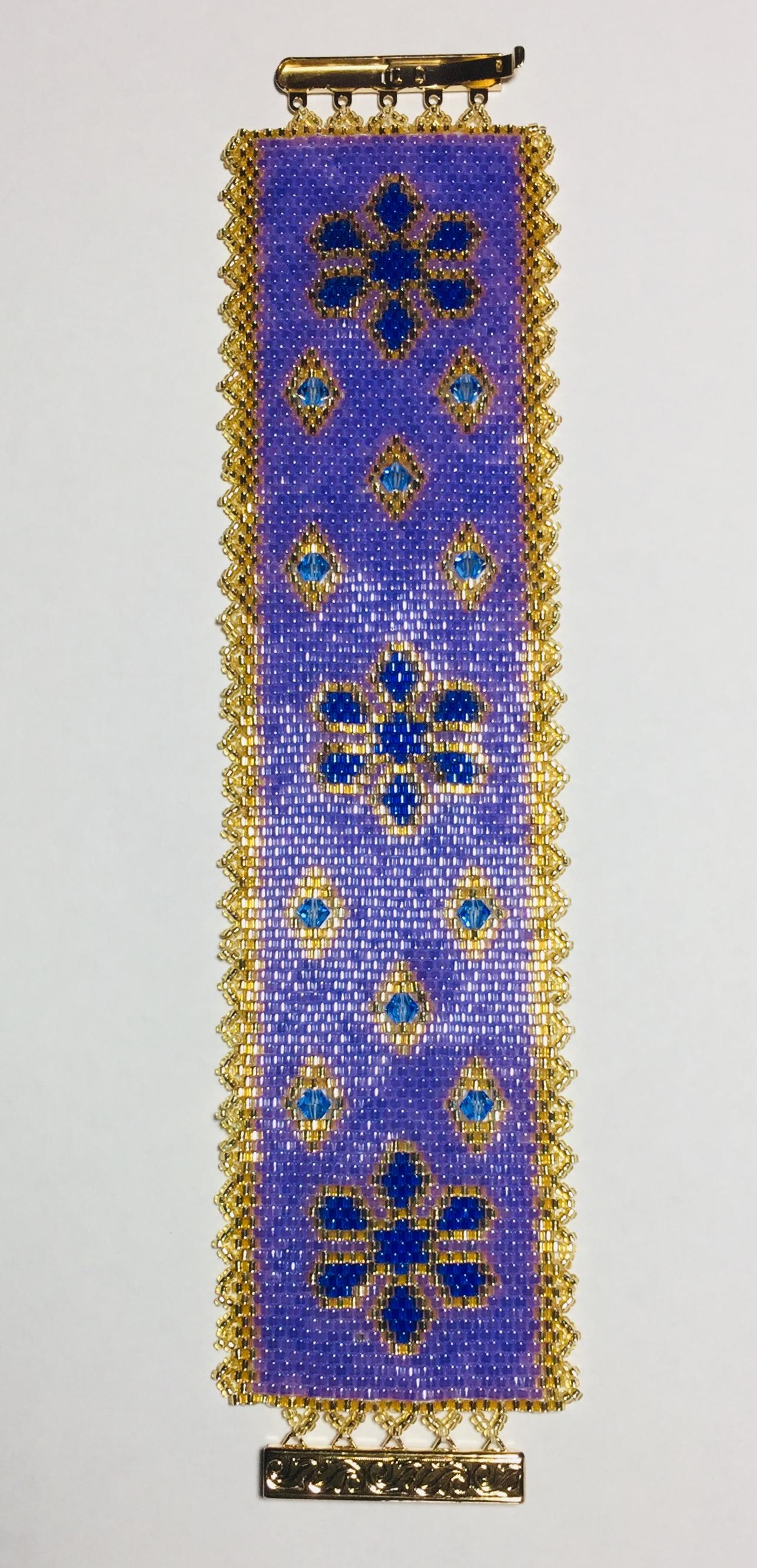 Floral_Peyote_bracelet