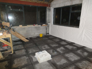 November 2014: New steps and utility room floor