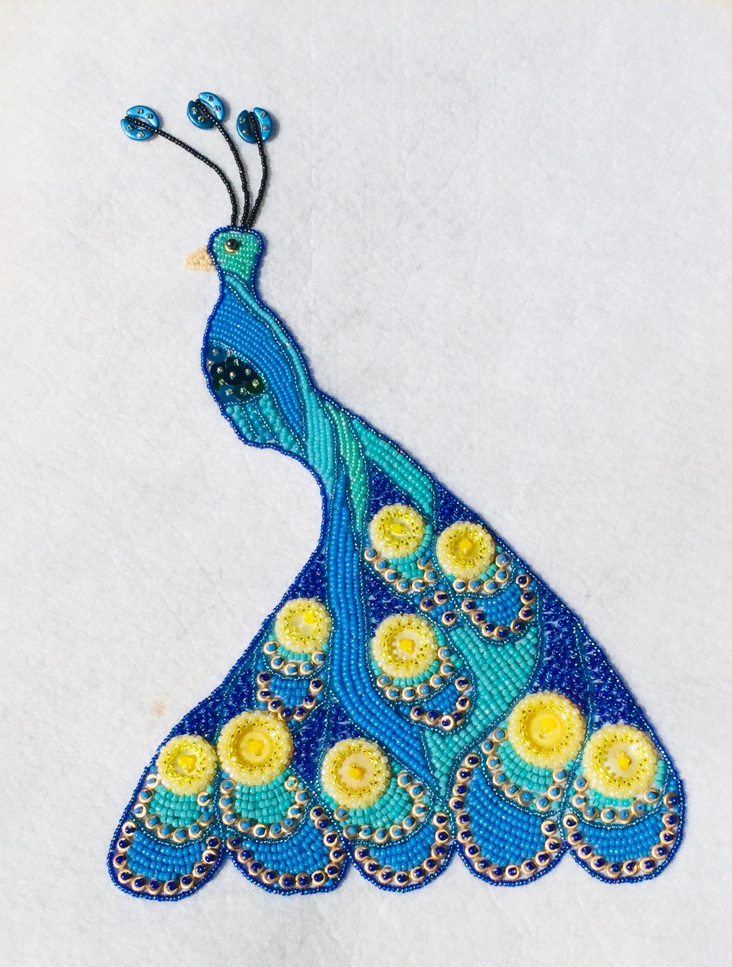 Beaded_peacock