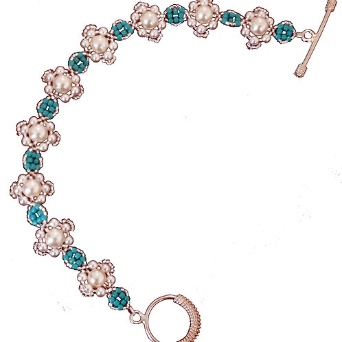 Fleur Bracelet -  Letter Size