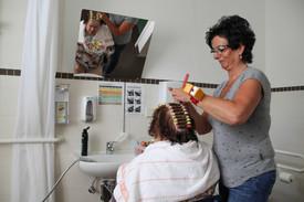 Besuch vom Friseur