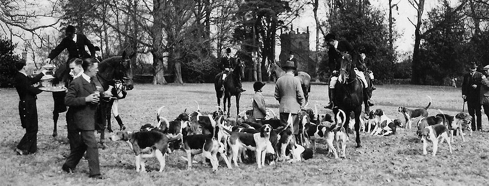 The Hunt Meets in Eydon Hall Park