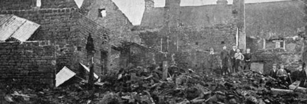 Burnt Barns behind High Street, 1905