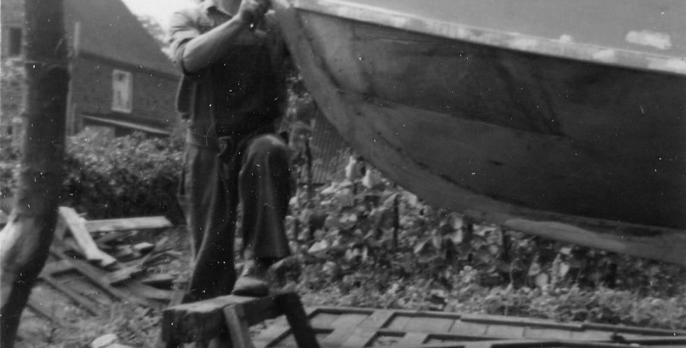 Dick Syers Builds a Boat in Eydon, 1961