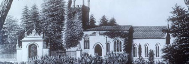 Eydon Church from south, 1840s