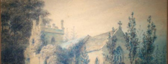 Water Colour of Church Exterior, 1830s