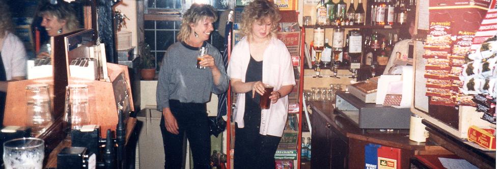 Bar at the Royal Oak, late 1980s