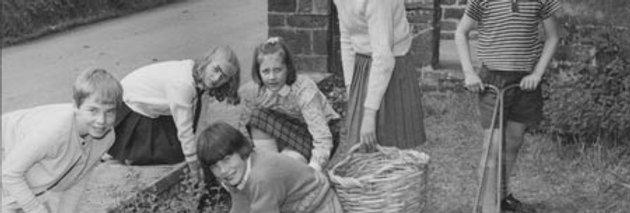 Gardening During The Last Days at Eydon School, 1968