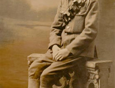Fred Kench as a new recruit, 1915