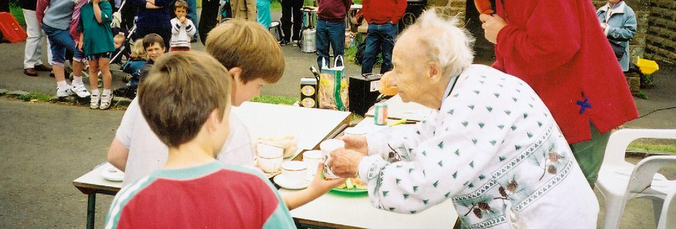 Collecting Mugs at the Millennium Street Party