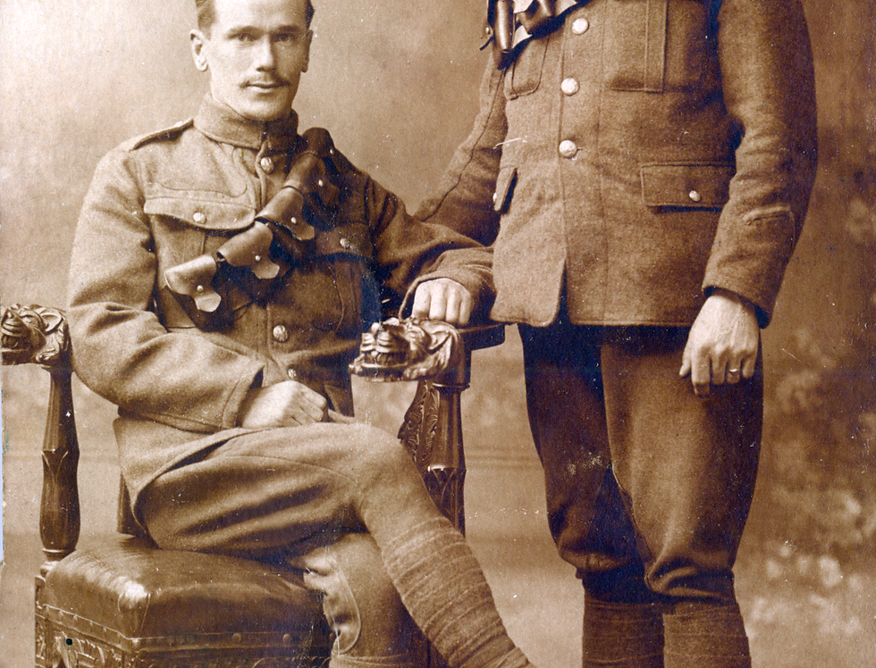 Sid Edwards as a Soldier During WW1