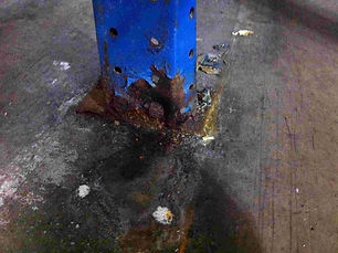 Serious corrosion to footplate & floor f