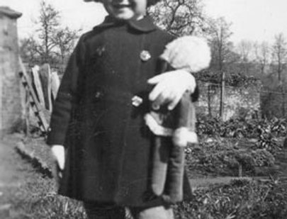 Hope Walker with doll, c1934