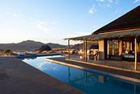 Lodge pool and verandah
