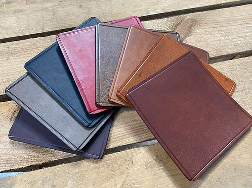 HAND MADE LEATHER COASTERS - SET OF 4